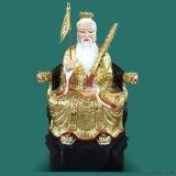 姜尚姜子牙钓鱼愿者上钩彩绘玻璃钢神像