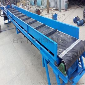 移动式箱装苹果装车输送机 带式PVC防滑输送机