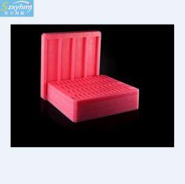 销售异型珍珠绵定位包装 防静电珍珠绵内衬 粉红色珍珠海绵管