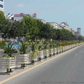 铝合**箱护栏,道路隔断,市政隔离栏杆