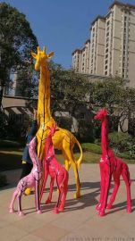 大型雕塑玻璃钢工艺品 花园动物玻璃厂家