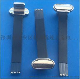 苹果T型金属无线充3P公头 带排线30 40 60长度充电