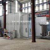 机械回收式喷砂房 大型工件表面处理自动喷砂房