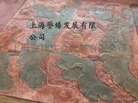 寧波彩色透水混凝土 寧波藝術壓花地坪設計