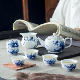 景德镇陶瓷茶具定制logo图案