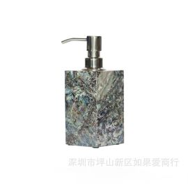 歐式木質鮑魚貝殼衛浴套裝洗手液瓶子樣板房洗手臺家居裝飾擺件