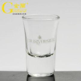 廠家定製高白料白酒杯厚底烈酒子彈杯松子玻璃酒杯