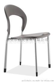 四脚塑料椅,叠落塑料多功能椅,无扶手洽谈区接待椅子