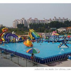 廣東廣州大型支架遊泳池炎炎夏日清爽一夏