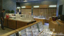 木质烤漆眼镜展示柜制作 深圳品诚展柜厂家专业定制各类眼镜展柜展台设计加工
