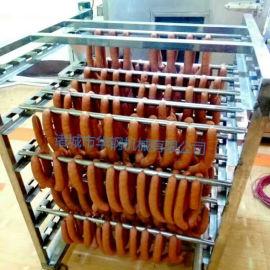 半自动香肠蒸箱 肉肠熏蒸炉 一次成型 上色均匀