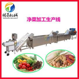 厂家定制蔬菜切割清洗风干生产线设备