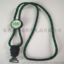 间色涤纶编织绳带调节扣可定做客人LOGO的带扣挂绳