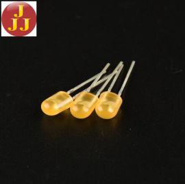 5MM 椭圆短脚橙发橙直插LED灯珠 发光二极管