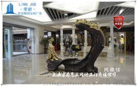 客厅  室内豹子雕塑艺术设计