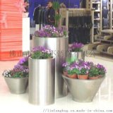 广州 酒店装饰花盆园艺不锈钢花盆 异形花盆定制加工