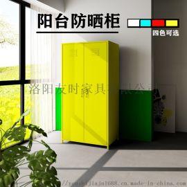 洛阳友时北欧风简易家具对开门更衣柜阳台柜彩色衣柜