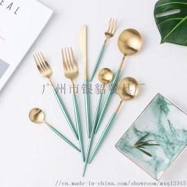 银貂304不锈钢西餐餐具刀叉勺筷子牛排刀叉子