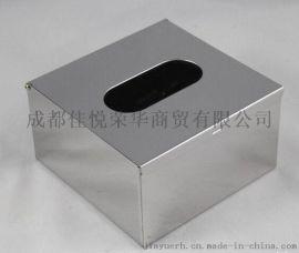 304不鏽鋼小抽紙巾盒、桌子上取紙器廠家批發包郵