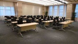 会议室培训桌图片 天津侧翻折叠桌样子