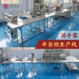 润手霜加工生产线乳化机搅拌桶灌装机贴标喷码设备厂家