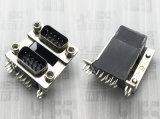 485-D-SUB连接器 公对公 铆事双爪鱼叉