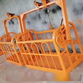 360度旋转吊篮 液压自动调平吊车吊笼