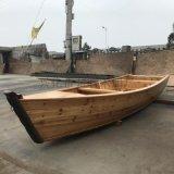 出售天津旅游景区一头尖欧式手划木船水上景观木船