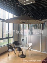LED太阳能遮阳伞、铝合金中柱伞、户外太阳能庭院伞