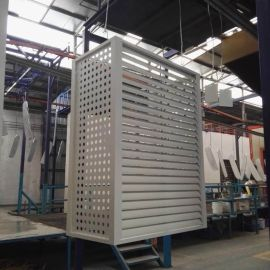 订做外墙铝合金空调罩 雕刻冲孔镂空铝单板防护空调罩