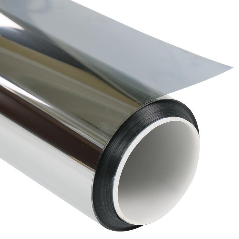 新款居家玻璃防曬膜窗戶隔熱膜鉑色單向  膜