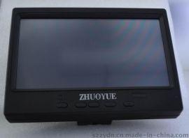 7寸车载触摸屏显示器带VGA,**,HDMI 输入USB控制触摸屏显示器
