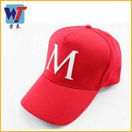 男棒球帽韩版绣花夏天女士棒球帽棉质平顶帽新款嘻哈帽欧美爆款