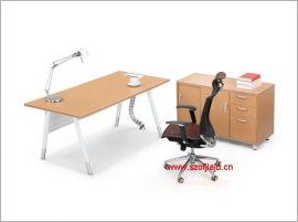 深圳时尚钢架办公桌, 现代办公家具板式办公台