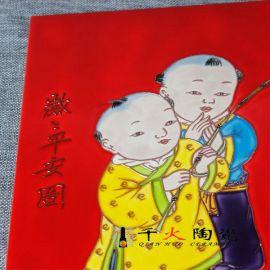景德镇中国红陶瓷瓷板画