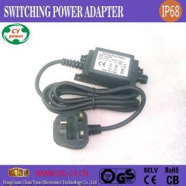 供应英规12V1A12W草坪激光灯防水电源,圣诞灯饰驱动开关电源