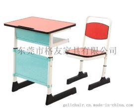 广东高档课桌椅厂家生产批发单人可升降课桌椅