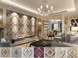 刺绣硬包 片绣硬包 拼镜硬包墙 软包 皮雕 装饰材料