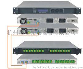 主、副热备份EYDFA, 数据自动通信 1550nm高功率主、副热备份铒、镱共掺光纤放大器 / EYDFA, 1U机箱,输出总功率:30~33dBm
