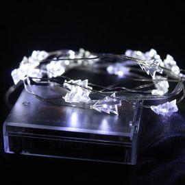 LED造型铜线灯串圣诞装饰灯星星灯饰电池盒灯串