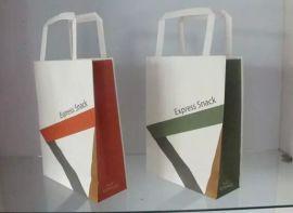 厂家供应环保牛皮纸手提袋购物袋