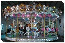 儿童户外游乐设备 金宝12座旋转木马厂家直销 行业知名品牌