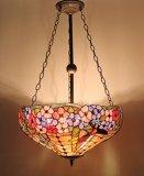 復古彩色玻璃反吊燈(P220214)