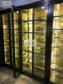酒店KTV不鏽鋼恆溫酒櫃 不鏽鋼酒架 恆溫恆溼酒窖定制廠家