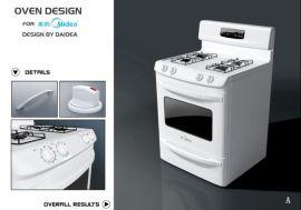 电烤箱外观设计+结构设计+抄数
