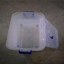 厂家廉价  广州透明手提滑轮塑胶整理箱 多款式塑胶透明整理箱