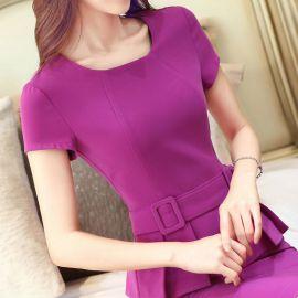 白領大碼職業裝女裝ol西裝套裙女夏裝韓版時尚短袖2016新款工作服