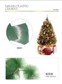 供應塑料松針絲 模擬聖誕樹 雙色松針絲 防靜電 抗紫老化 抗酸