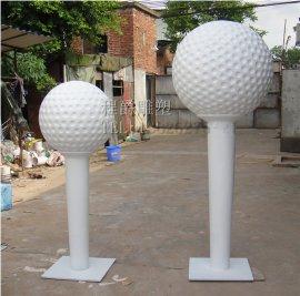 高尔夫球场景雕塑 定制**玻璃钢高尔夫球