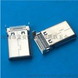 TYPE 3.1 USB 沉板雙貼公頭 雙12P貼片 smt貼片式公頭